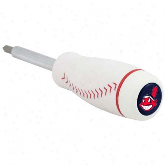 Cleveland Indians Pro-grip Baseball Screwdriver And Drill Bits