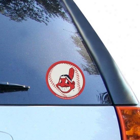 Cleveland Indians Round Vinyl Baseball Decal