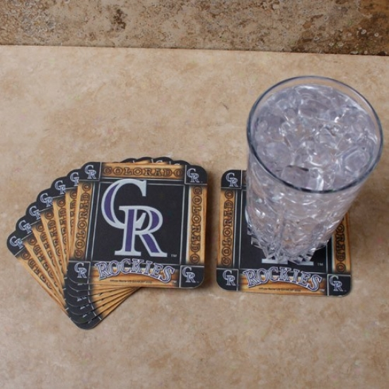 Colorado Rockies 8-pack Absorbent Paperkraft Coasters