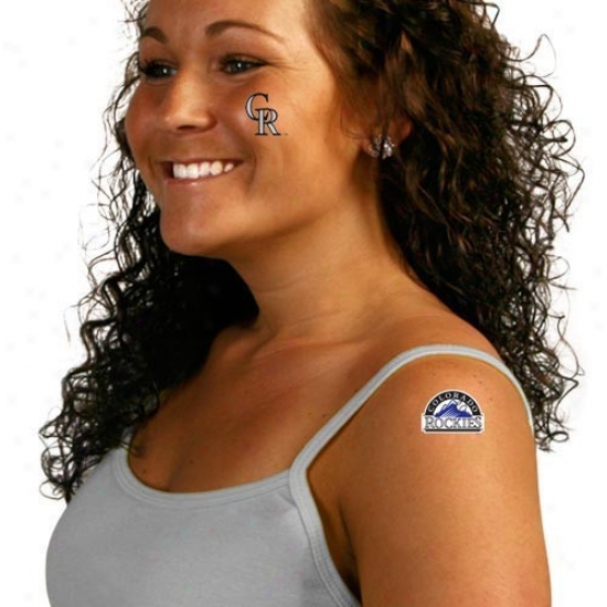 Colorado Rockies 8-pack Waterless Temporary Tattoos