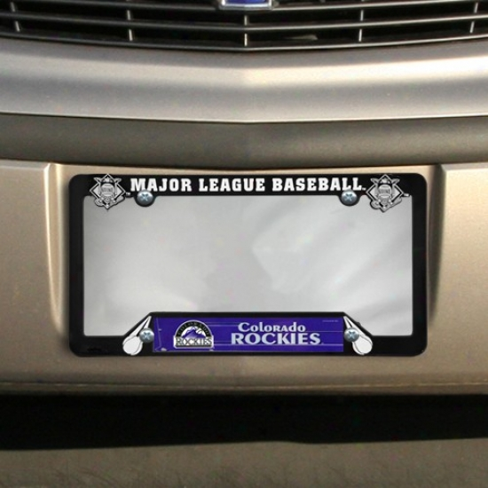 Colorado Rockies Black Plastic License Plate Frame
