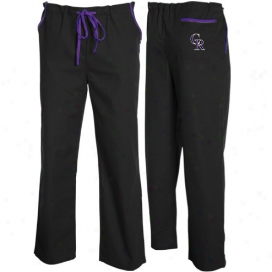 Colorado Rockies Black Scrub Pants