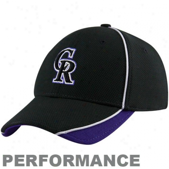 Colorado Rockies Caps : New Era Colorado Rockies Black Batting Practice 39tthirty Accomplishment Flex Fit Caps