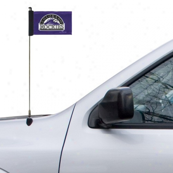 Colorado Rockies Flag : Colorado Rockies Purple Antenna Flag