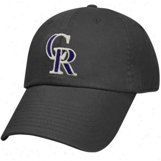 Colorado Rockies Hat : Nike Colorado Rockies Black Relaxed Adjustable Hat