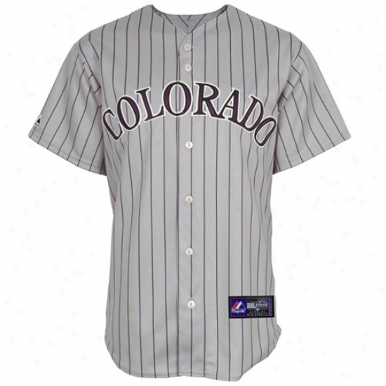 Colorado Rockies Jerseys : Majestic Colorado Rockies Grray Replica Baseball Jerseys