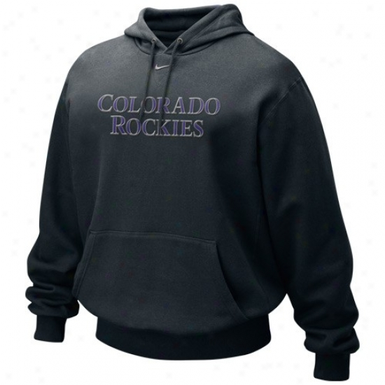 Colorado Rockies Sweat Shirts : Nike Colorado Rockies Black Tackle Twill Sweat Shirts