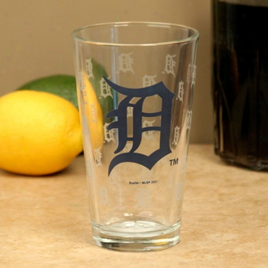 Detroit Tigers 16oz. Satin Etch Pint Glass