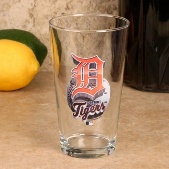 Detroit Tigers 17 Oz. Enhanced Hi-def Mixing Glass