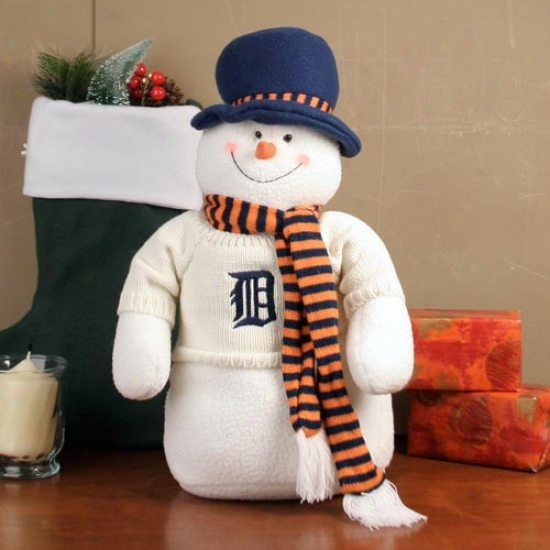 Detroit Tigers 18'' Plush Snowman
