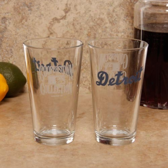 Detroit Tigers 2-pack 16oz. Cooperstown Glasses