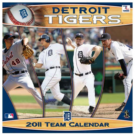 Detroit Tigers 2011 Wall Calendar