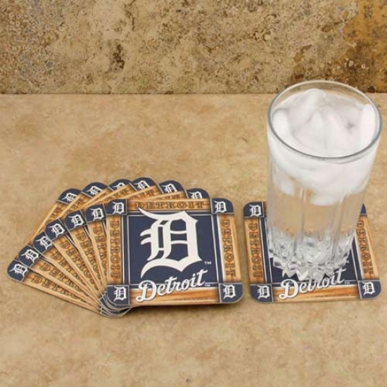 Detroit Tigers 8-pack Absorbent Paperkraft Coasteds
