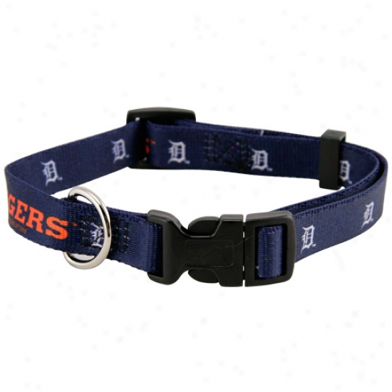 Detroit Tigers Adjustable Dog Collar