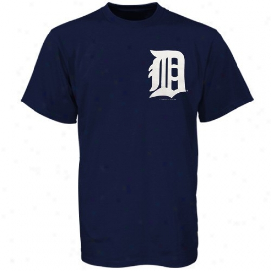 Detroit Tigers Clothes: Majestic Detroit Tigers Navy Blue Youth Wordmark