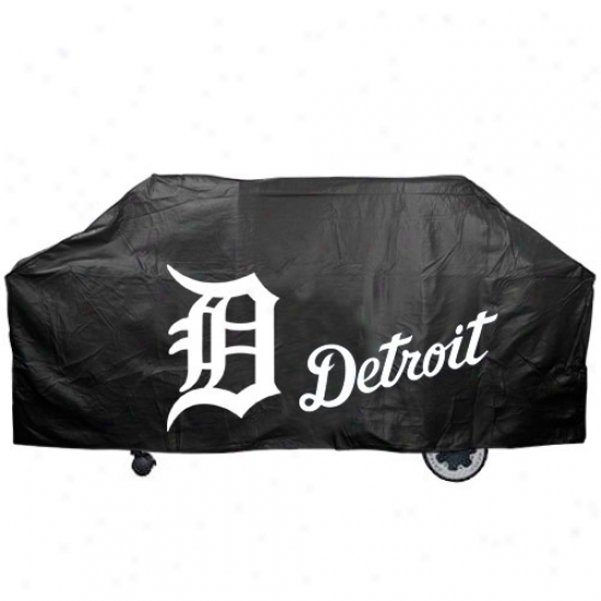 Detroit Tigers Black Grill Cover