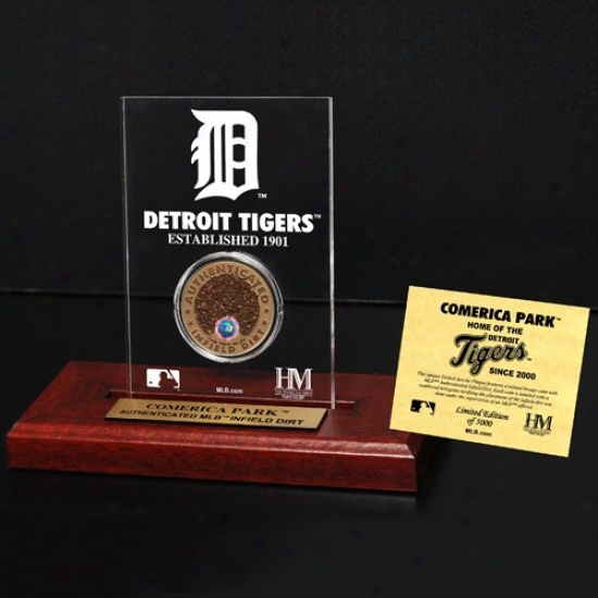 Detroit Tigers Comerica Park Infield Dirtt Coin Etched Acrylic