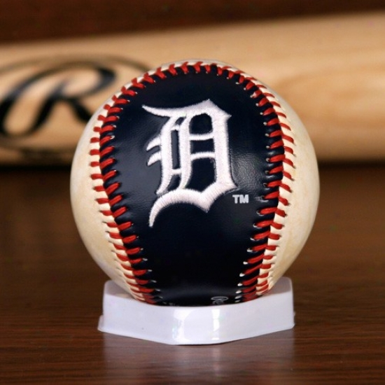 Detroit Tigers Embroiidered Team Logo Collectible Baseball