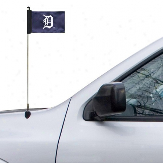 Detroit Tigers Flag : Detroit Tigers Navy Blue Antenna Flag