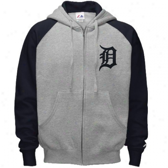 Detroit Tigers Fleece : Splendid Detroit Tigers Ash Classic Full Zip Fleece