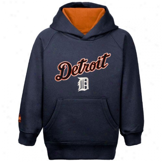 Detroit Tigers Strip : Majestic Detroit Tigers Toddler Navy Blue Pullovver Fleece