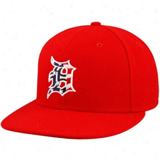 Detroit Tigers Hat : New Era Detroit Tigers Red Stars & Stripes On-field  59fifty Fitted Hat