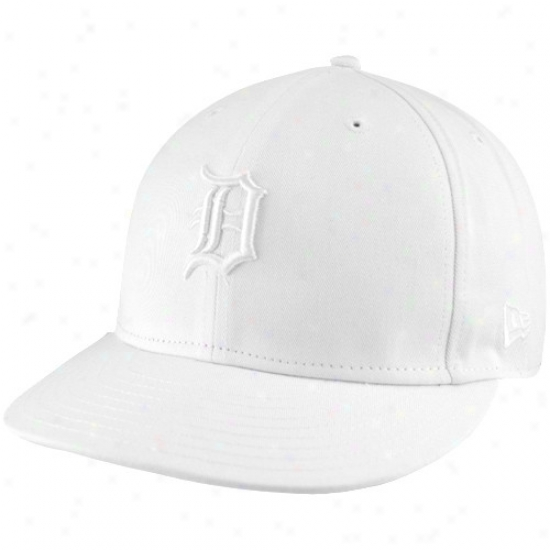 Detroit Tigers Hat : New Era Detroit Tigers White Tonal 59fifty Fitted Hat