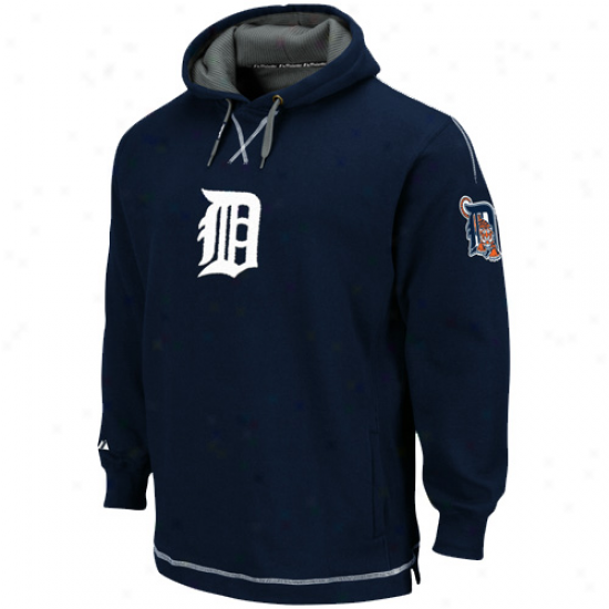 Detroit Tigers Hoody : Majestic Detroit Tigers Navy Blue The Liberation Pullover Hoody