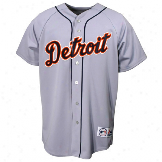Detroit Tigers Jerseys : Majestic Detroit Tgiers Grey Replica Jerseys