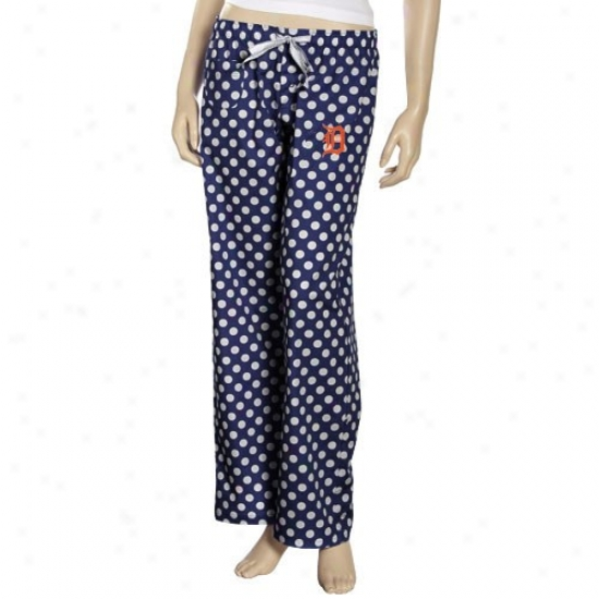 Detroit Tigers Ladies Navy Blue Galaxy Pajama Pants