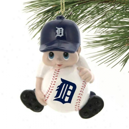 Detroit Tigers Lil' Fan Baseball Player Acrylic Ornament