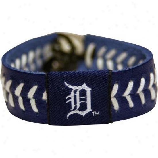 Detroit Tigers Navy Blue Baseball Bracelet