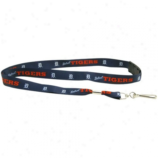 Detroit Tigers Navy Blue Result Lanyard