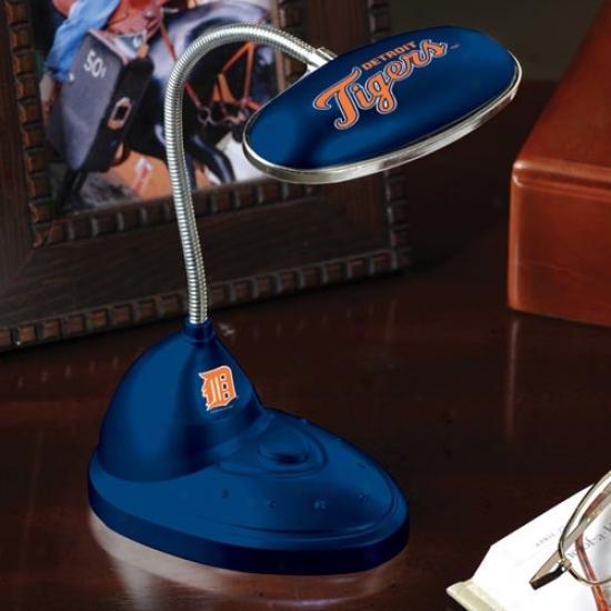 Detroit Tigers Navy Blue Led Desk Lamp