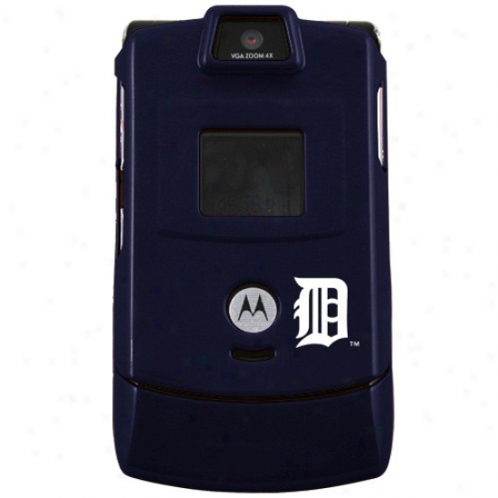 Detroit Tigers Navy Blue Razor Protective Small room Phone Cover