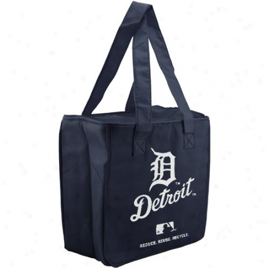 Detroit Tigers Navy Blue Reusable Insulated Tote Bag