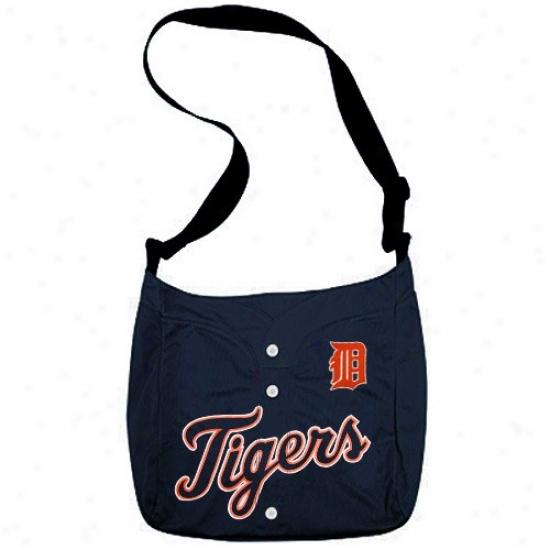 Detroit Tigers Navy Blue Veteran Jersey Tote Bag