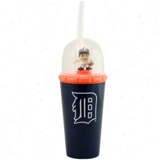 Detroit Tigers Navy Blue Wind-up Mascot Cup
