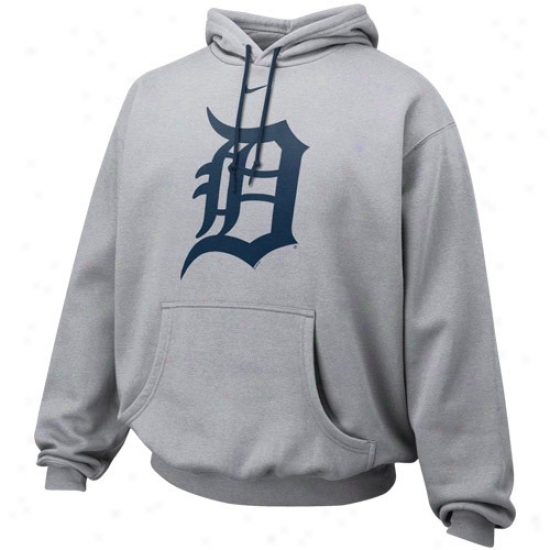 Detroit Tigers Stuff: Nike Detroit Tigers Ash Pre-game Hoody Sweatshirt