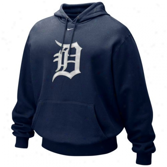 Detroit Tigers Sweat Shirts : Nike Detroit Tigers Navy Blue Tackle Twill Labor Shirts