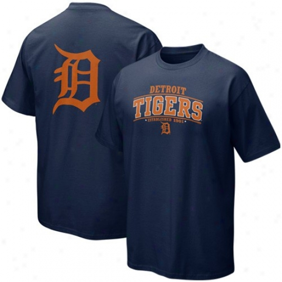 Detroit Tigers T Shirt : Nike Detroit Tigers Navy Blue Everyday T Snirt