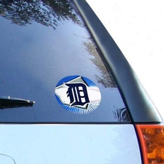 Detroit Tigers Team Logo Full Vinyl Decal