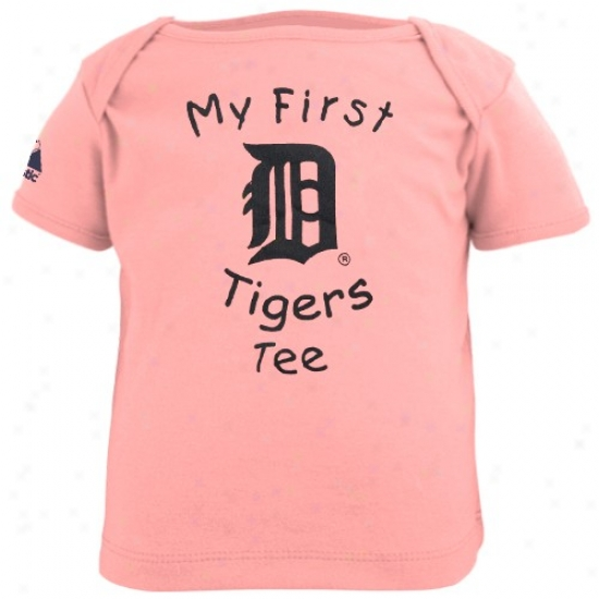 Detroit Tigers Tshirts : Majestic Detroit Tigers Infant Girls Pink My First Tshirts