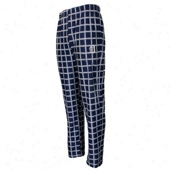 Detroit TigersY outh Navy Blue Tailgate Pajama Pants