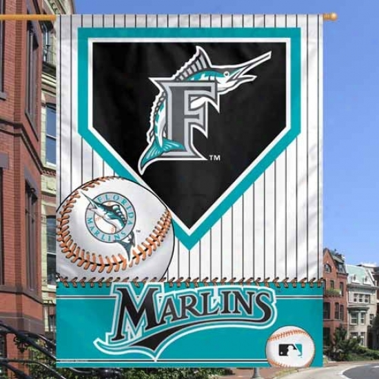 Florida Marlins Pall : Florida Marlins 27'' X 37'' Home Plate Vertical Flag Flag