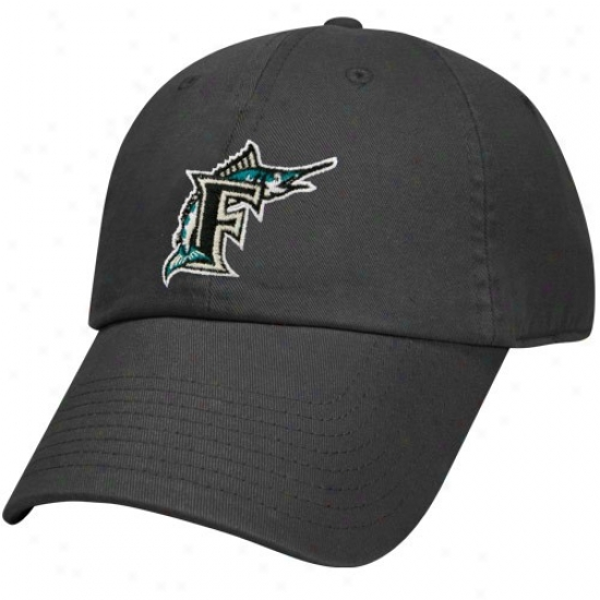 Florida Marlins Gear: Nike Florida Marlins Black Relaxed Adjustable Hat