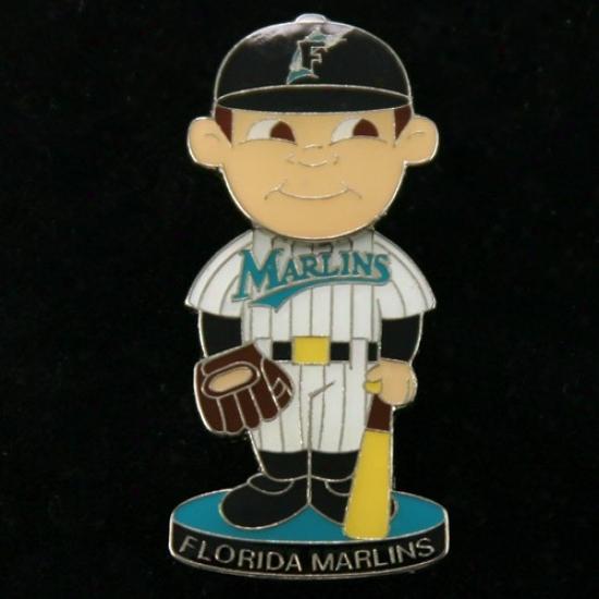 Florida Marlins Hat : Florida Marlins Bobble Head Baseball Performer Pin