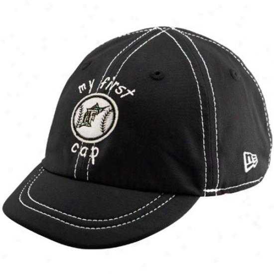 Florida Marlins Hats : New Era Florida Marins Infant Black My 1st Baseball Hats