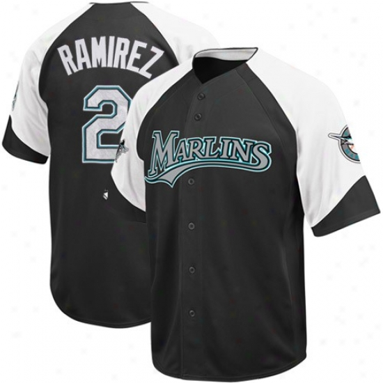 Florida Marlins Jerseys : Elevated Hanley Ramirez Florida Marlins Wheelhouse Replica Jerseys - #2 Black