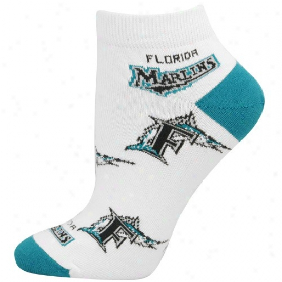 Florida Marlins Ladies Pale 9-11 Team Logo Ankle Soks
